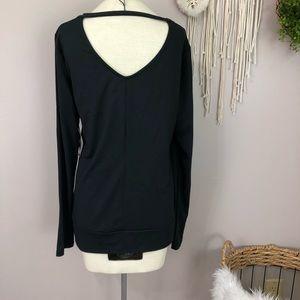 NWT Jillian Michaels black long sleeve Large top